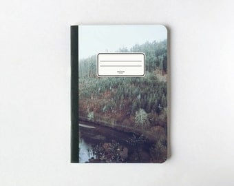 Rainy Forest Notebook - Journal - Sketchbook - Blank pages - Lined pages