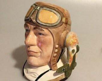 """Royal Doulton Character Jug - """"The Airman"""""""
