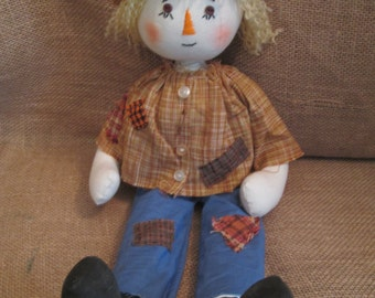 Handmade Primitive Fall Scarecrow Doll