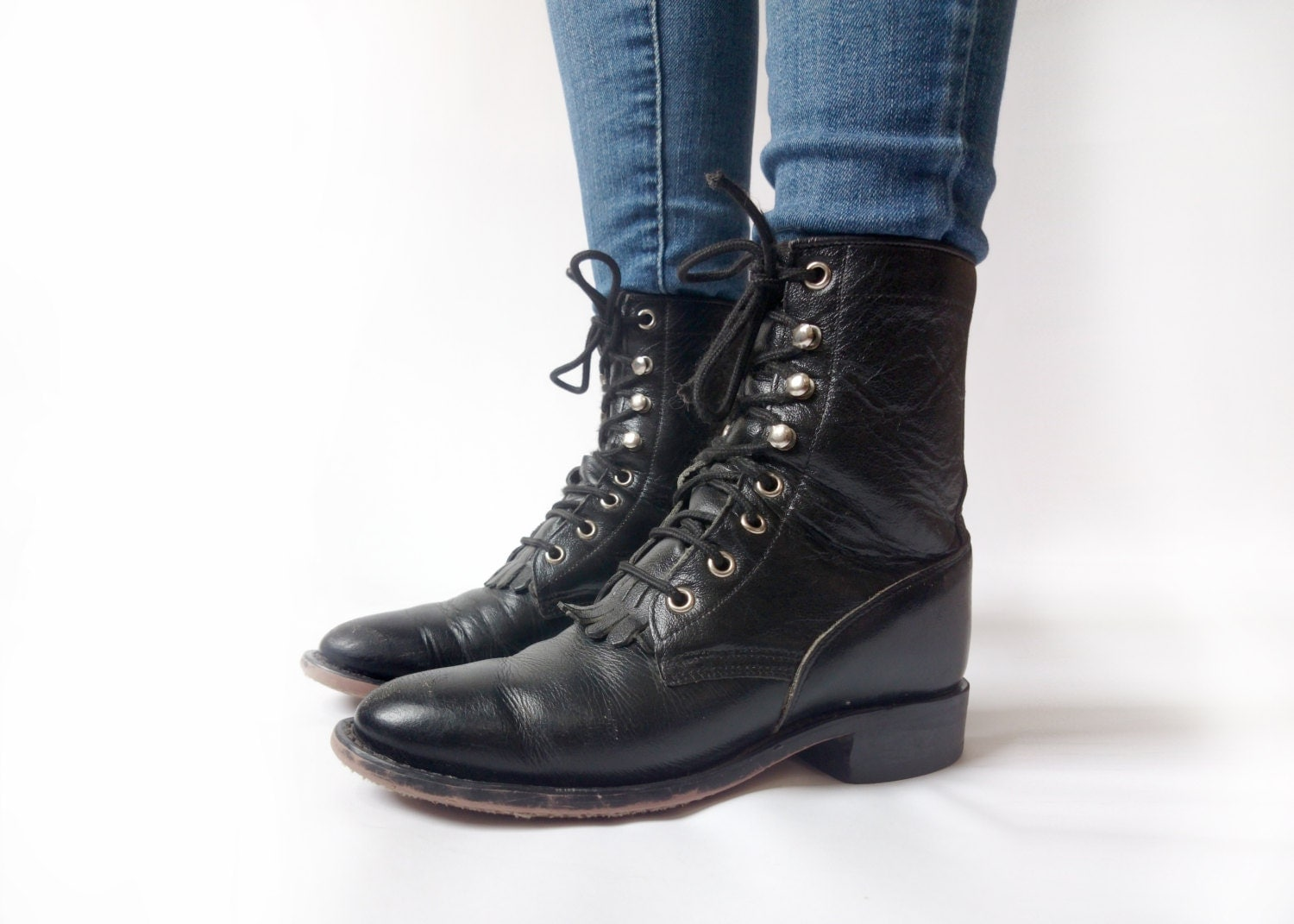 Original  Rag American Rag Zack Women Faux Leather Black Combat Boot Boots