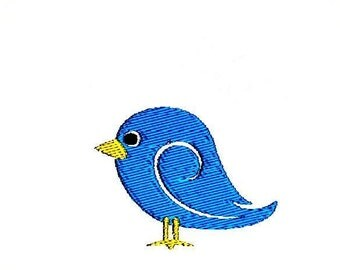 Blue Bird Embroidery Design