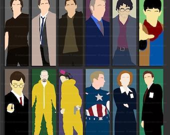 Bookmark – Supernatural – Sam –Dean – Castiel – Hannibal – Will Graham – X Files – Mulder – Scully – Breaking Bad – Merlin – Harry Potter