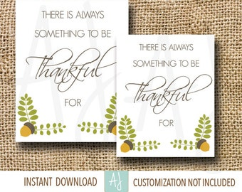 Thanksgiving Decoration-Printable Fall Sign-Customization NOT Included