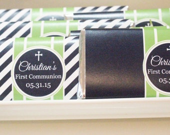 Communion/Baptism/Christening/Confirmation Personalized Chocolate Bar Wrappers by Marbella Printables