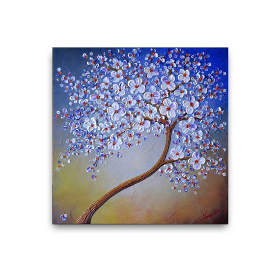Cherry Blossom Tree Painting Original Abstract Painting wall