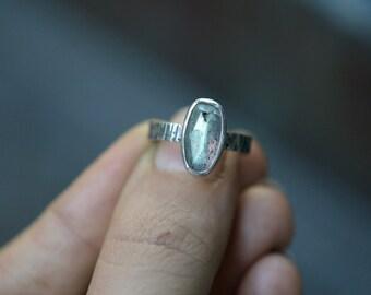 35% off! Blue Labradorite Ring - Rose Cut Labradorite Ring - Stargazer Ring - Faceted Gemstone Ring - Size 5
