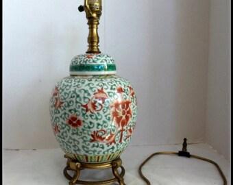 Vintage Asian Ginger Jar Lamp