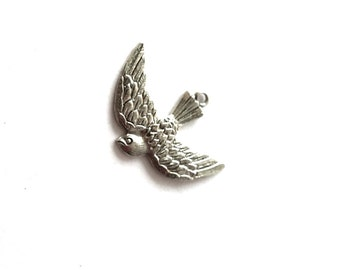 Sterling Silver Vintage Swallow Bird Charm Antaya