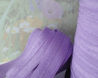 5yds Elastic Ribbon Fold Over HeadBands Ponytail 5/8 inch 15mm FOE Purple Stretchy Ribbon Elastic by the yard MP