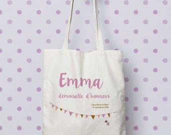 "Bag ""Bridesmaid"" Tote bag to customize, control, Tote, bag maid of honour, wedding, EVJF, gift bag"
