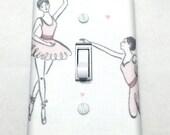 Ballet Dancer Light Switch Plate Cover / Outlet Cover / Bedroom / Home Decor / Baby Shower Gift / Nursery Decor / Kid's Room / Ballerina