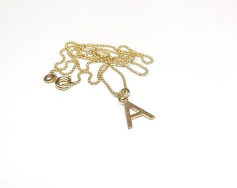Personalized gold chain letter 333 / 8 k gold