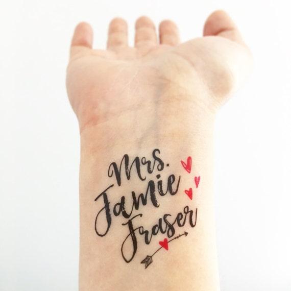 5 outlander jamie fraser tattoos by loveandlion on etsy. Black Bedroom Furniture Sets. Home Design Ideas