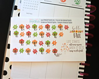 Fall Countdown Stickers, Fall Stickers