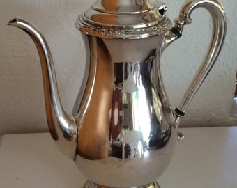 Vintage Silver Plated Camille Coffee Pot International Silver Company Coffee Server Hollowware Entertaining
