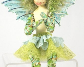 Art Doll-Justiece the Sprite OOAK Cloth Doll Faery