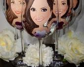 Bride, Bridesmaid, Bridal Toasting Wine Glass