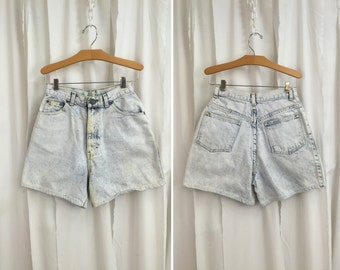 Vintage 80s Acid Wash Denim Shorts by Sasson // High Waist // Jeans // Womens // 1980s // Retro // 25 Inch Waist