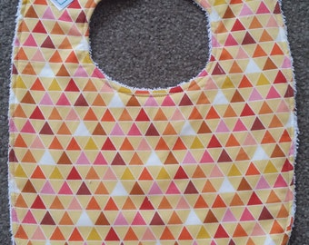 Triangles Bib - Yellow Mix