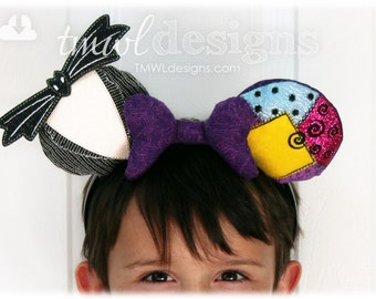 Christmas Nightmare Mouse Ear Stuffies Digital Design Files - Halloween, Costume Hair Accessory