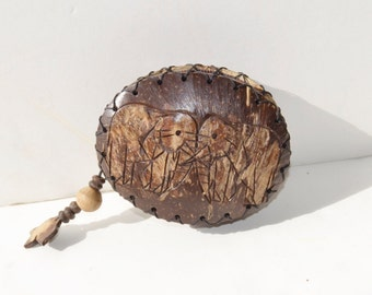 coconut purse with elephants