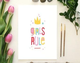 Girls Rule - ART PRINT