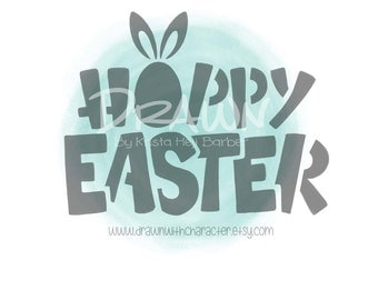 Hoppy Easter Font Stencil- PYO Stencil File- PERSONAL USE only