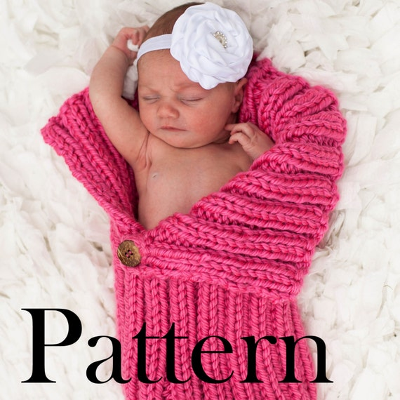 PATTERN-Button-Flap Baby Cocoon