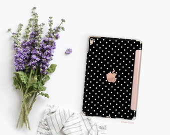 Platinum Edition Small Polka with Rose Gold Smart Cover Hard Case for iPad Air 2, iPad mini 4 , iPad Pro , New iPad 9.7 2017