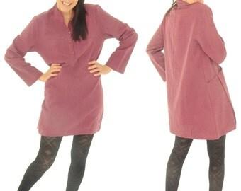 FM400 ladies tunic blouse dress size M/L berry