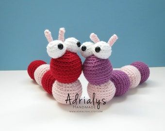 Crochet Caterpillar- Stuffed Caterpillar- Caterpillar Plush- Insect Toys- Bug Toys- Handmade Caterpillar- Crochet Toy- Ready to Ship