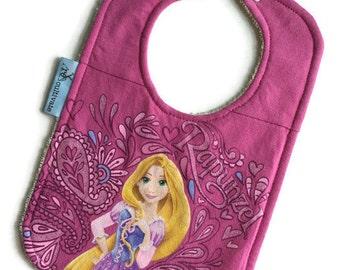 Rapunzel Baby Bib • Baby Shower Gift • Upcycled Tshirt Bib • Disney Baby
