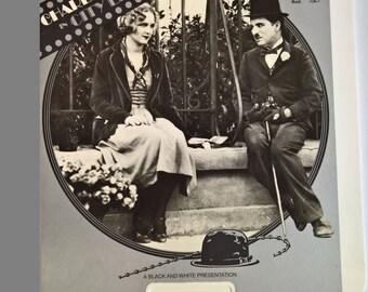 City Lights Vintage RCA Videodisc --- 1920's 1930's 1980's Pop Culture Movie Memorabilia --- Old Hollywood Film Classic Stars Home Decor