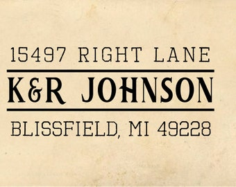 Custom Address Rubber Stamp, Return Address Stamp, Pre-inked, Blissfield