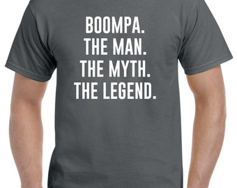 Boompa Shirt-Boompa Gift-The Man The Myth The Legend Funny Boompa T Shirt