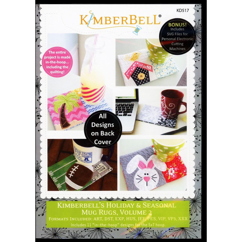 CD Holiday & Seasonal Mug Rugs Vol 2 Machine Embroidery