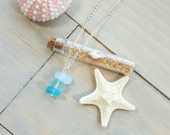 Sea Glass Necklace, Beach Jewelry