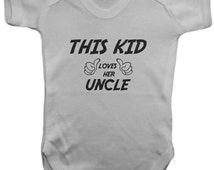 Unique Uncle Baby Clothes Related Items Etsy