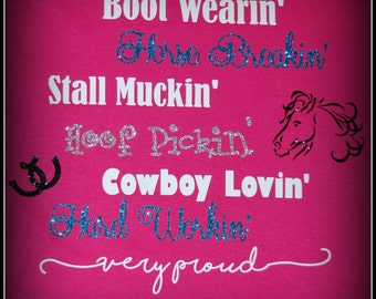Custom Made Horse Trainer T-shirt