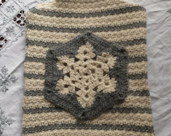Hand made crochet Hot water bottle cover