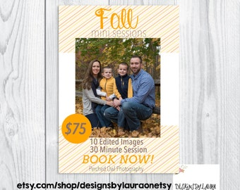 Fall Mini Session Template-Photography Ad-Facebook Ad for Photographers