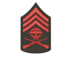 Machine Embroidery Design Instant Download - Venture Brothers Sergeant Hatred Logo 2