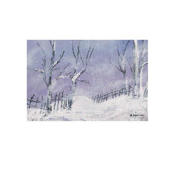 Winter Storm Giclee Fine Art By  Wyoming Artist Joyce Lee  11 X14 Print