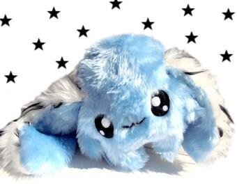 Big Fluse Kawaii Plush Rabbit  Dreamcatcher light blue