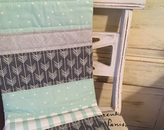 Mint Jubilee Baby Quilt - Mint and Grey