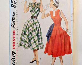 Vintage Simplicity 3561 Pattern - Teen Age One-Piece Dress - Size 14 UNCUT