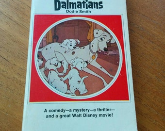 101 Dalmatians by Dodie Smith Disney Movie Tie-In Illustrated Paperback Book Vintage 1960s