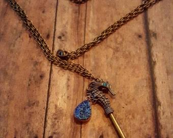Titan - Skeleton Key Jewelry - Long Necklace - Key Necklace - Ornate Key - Brass Necklace - Boho Jewelry - Hippie Jewelry - Hipster Jewelry