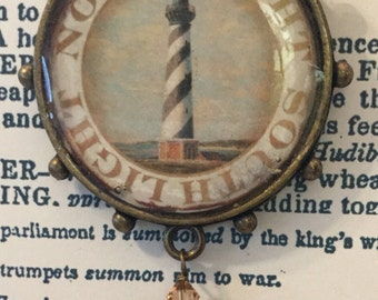 Vintage Lighthouse Resin Pendent