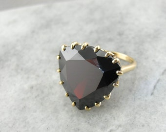 The Statement Piece: Red Garnet Cocktail Ring  QKERT5-P
